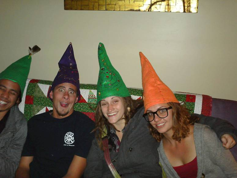 Gnomebassadors Celebrating Jubilee, Cheerfulness And Laughter on the Winter Solstice, 2013!